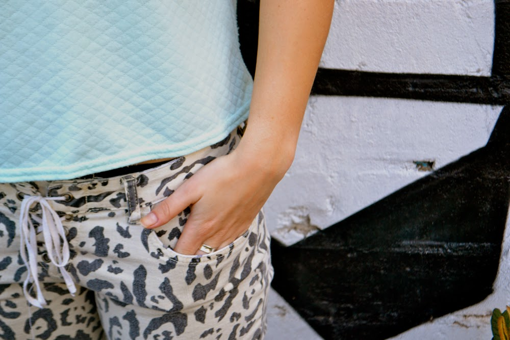 pastels; leopard print, billabong