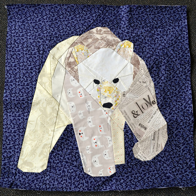 Paper Pieced Polar Bear