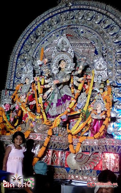 Ama Medha: Sikharpur, Gandarpur, Cuttack - 2015 Durga Puja Medha - Photo By Sri Satyajit Behera