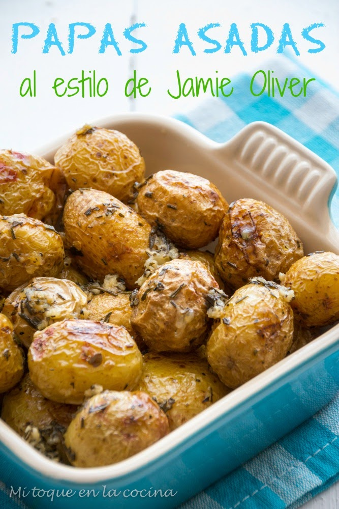 Mi toque en la cocina papas asadas al estilo de jamie oliver for Cocina de jamie oliver