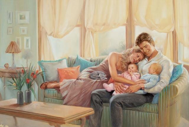happy family,twin babies,ed tadiello