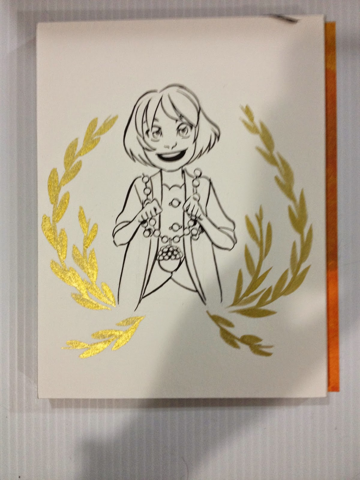 Winsor and Newton Gold Ink Test 2
