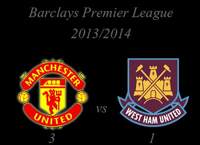 Manchester United vs West Ham United Result November 2013