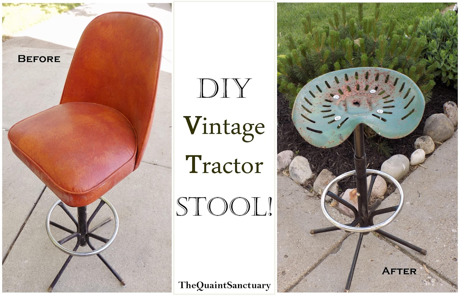 The Quaint Sanctuary DIY Vintage Tractor Stool  : tractor from thequaintsanctuary.blogspot.com size 1600 x 1035 jpeg 417kB
