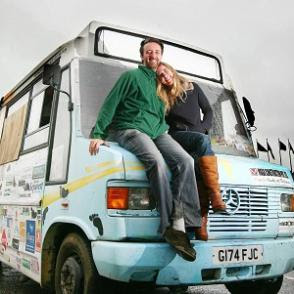 Andy Pag and Christina Ammon at the Port of Dover