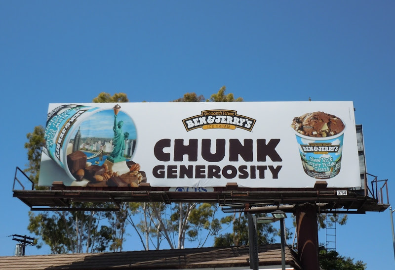 Ben and Jerry's Chunk generosity billboard