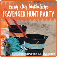 http://www.thrifterindisguise.com/2013/08/beach-scavenger-hunt-birthday-party.html