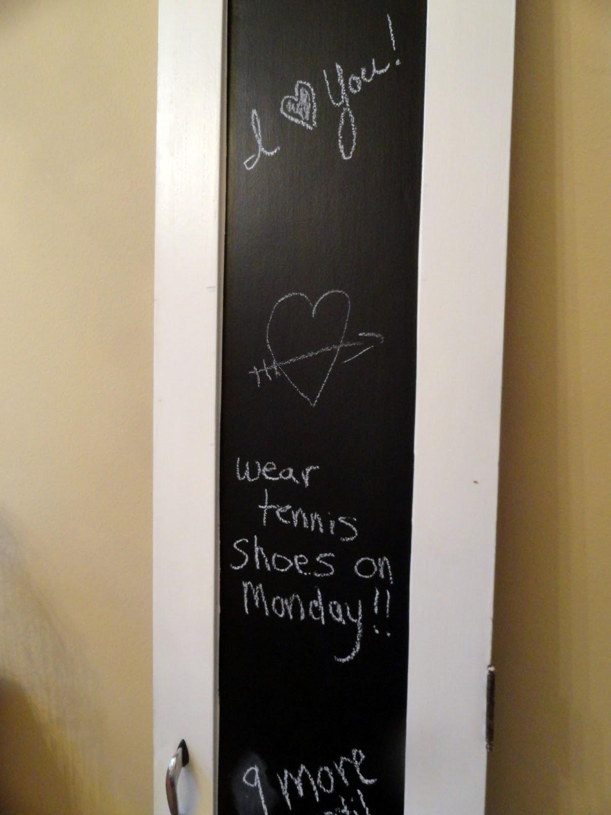 Painted Vintage Chalkboard Message Door Rachel Teodoro