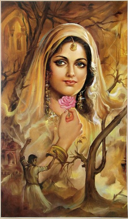 PAINTING ART OF BEAUTIFUL INDIAN WOMEN