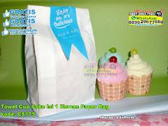 Towel Cup Cake Isi 1 Kemas Paper Bag