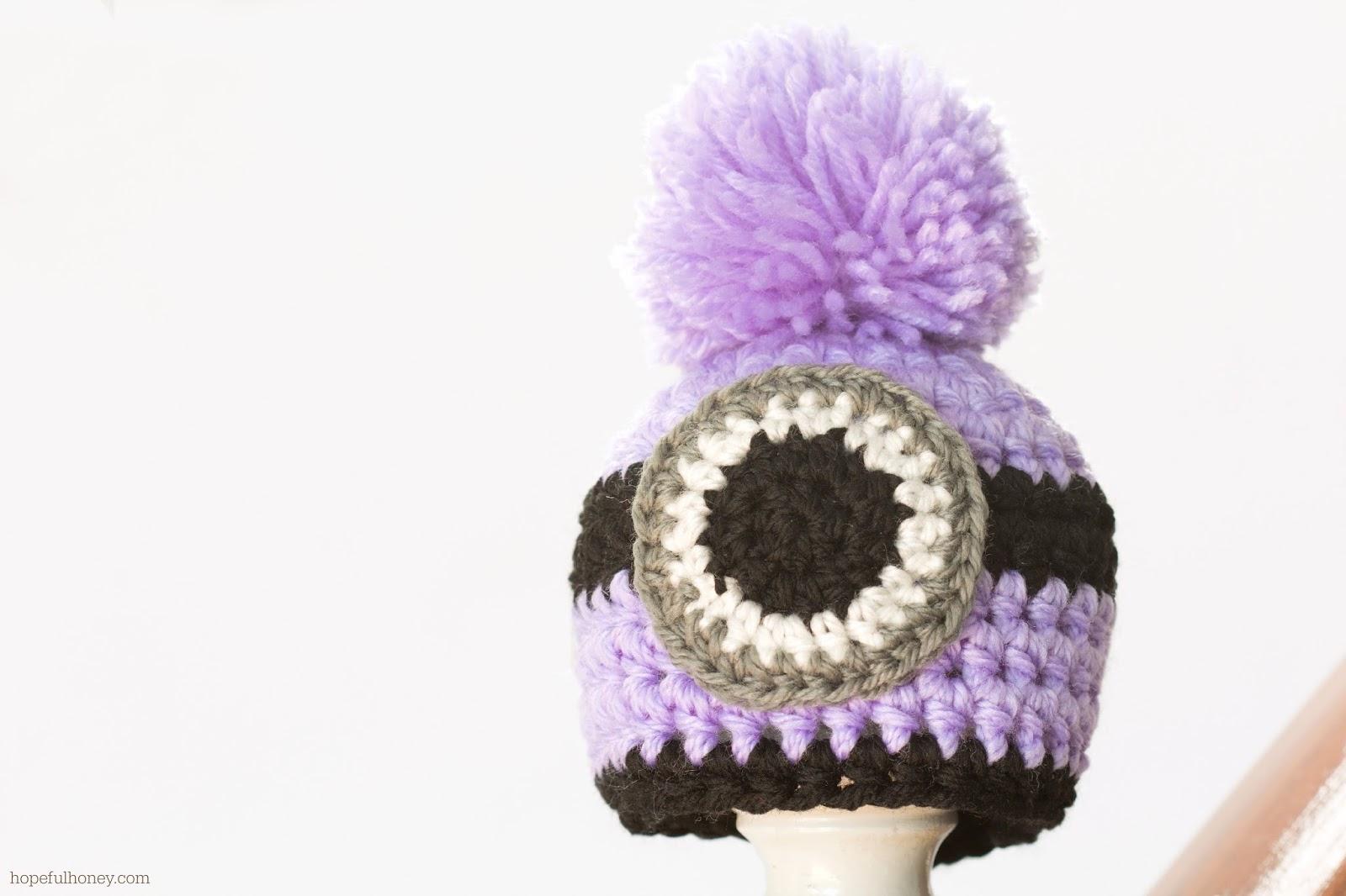 Free crochet pattern for newborn minion hat manet for newborn evil minion inspired hat interweave free crochet pattern bankloansurffo Image collections