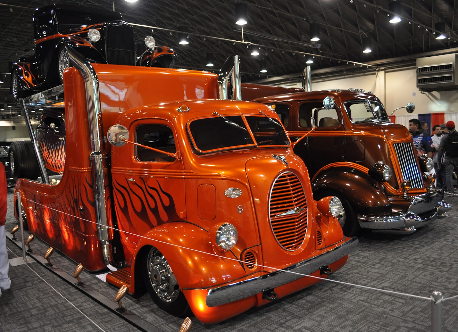love my car: The cool hot rod haulers were teamed up in a display at ...