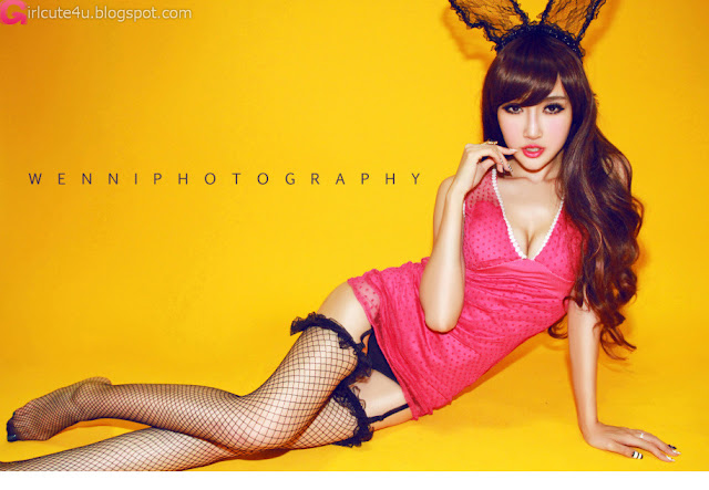 1 He Yameng - BunnyGirl-Very cute asian girl - girlcute4u.blogspot.com