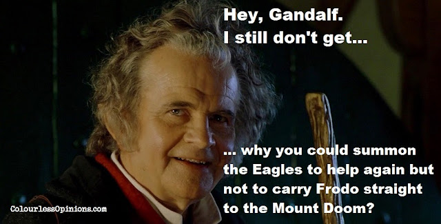 The Hobbit Lord of the Rings eagle plothole meme