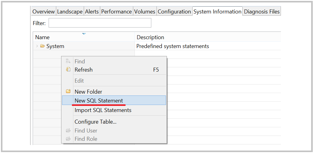 SAP HANA User defined custom system monitoring statement
