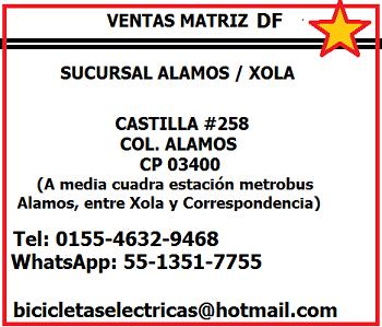 OFICINA MATRIZ.....BICICLETAS ELÉCTRICAS ANFERRO