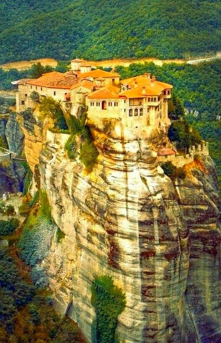Meteora-Monastery in -Greece