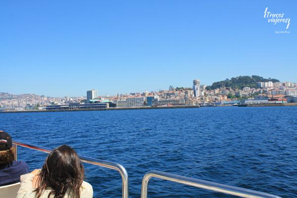 Vigo visto desde el barco