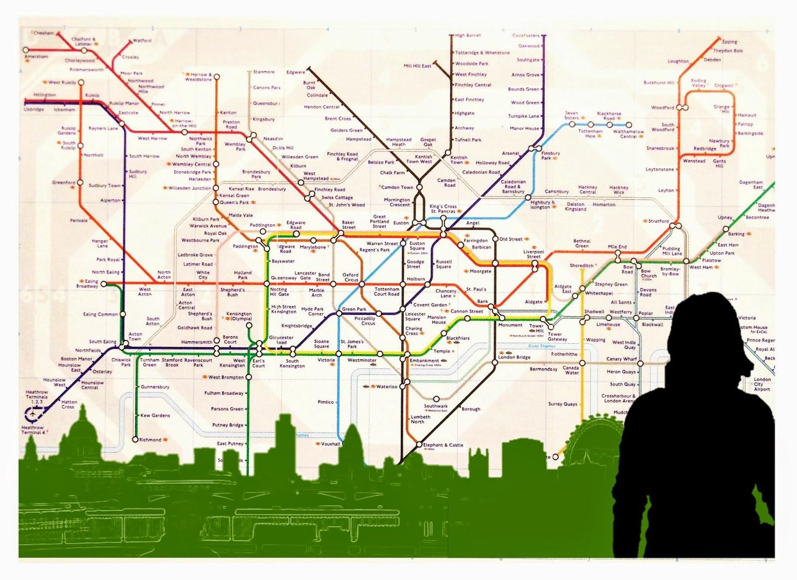 London skyline tube map