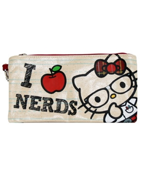 Nerd Hello Kitty Coloring Pages http://www.hellokittyforever.com/2012/01/hello-kitty-pencil-cases.html