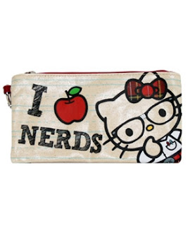 Hello Kitty I Love Nerds pencil case for school