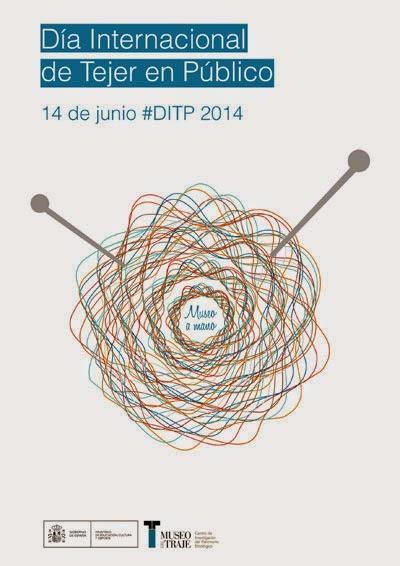 Día Internacional de Tejer en Público el Museo del Traje 2014