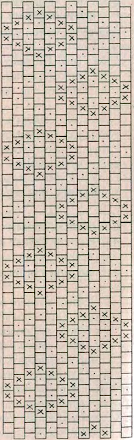 Схема плетения мозаичного орнамента из бисера для браслета