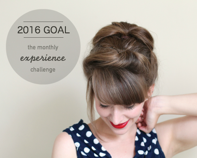CiCi Marie 2016 goal - the experience challenge
