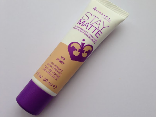 Rimmel Stay Matte Liquid Mousse Foundation.