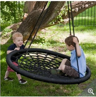 Wide Ideas Large Swing and Spin - can be attached to your existing swing set or hung from a tree