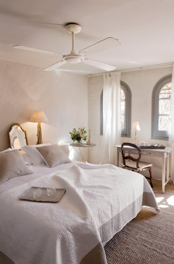Hotel rural de luxe cerca de Barcelona habitación dormitorio doble