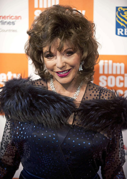 joan collins 2011. Joan Collins arrives at The