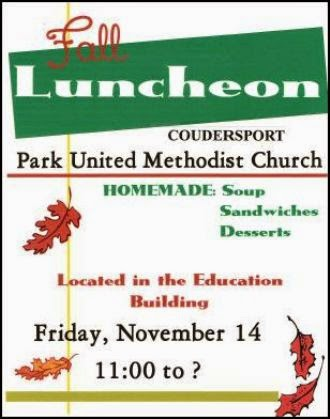 11-14 Fall Luncheon At Park Methodist