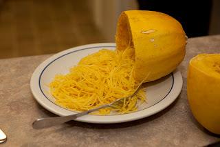 Spaghetti Squash On Plate