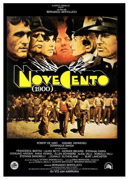 poster pelicula novecento