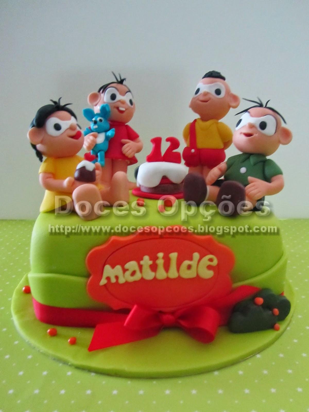 bolo aniversário Turma da Mônica e cebolinha