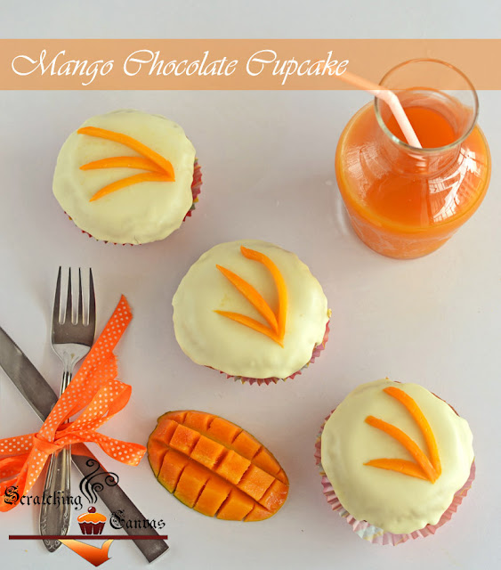 Chocolate Mango Cupcake
