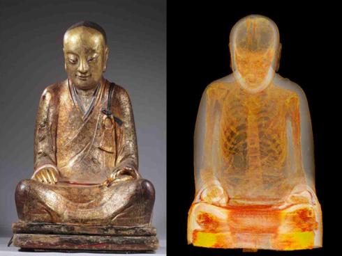 Para penyelidik terkejut jumpa 'mumia' dalam patung Buddha
