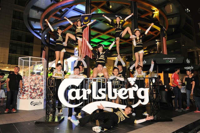 Cheerleader performances throughout the night set the mood at Carlsberg's BPL Campaign Launch and Trophy Viewing