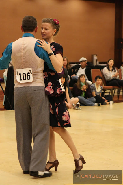 dressed in vintage dancing balboa for jack & jill competition