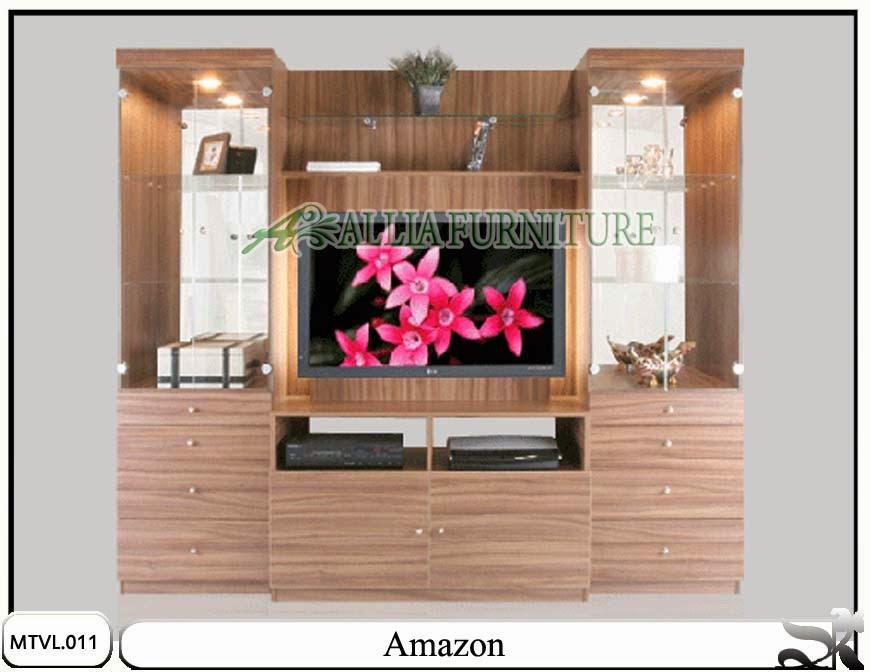 Lemari tv lcd desain minimalis amazon