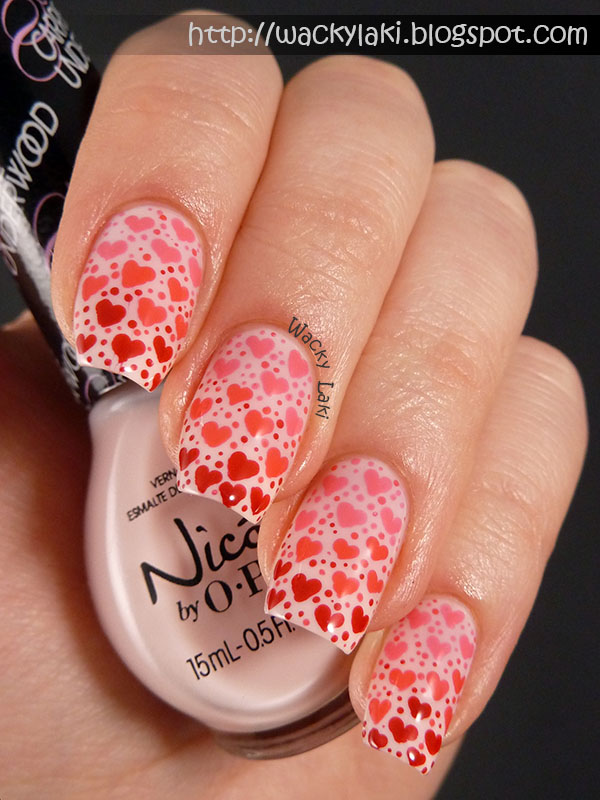 Wacky Laki: Gradient of Hearts Featuring Nicole by OPI Carrie ...