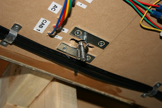 Control panel butterfly nut locks
