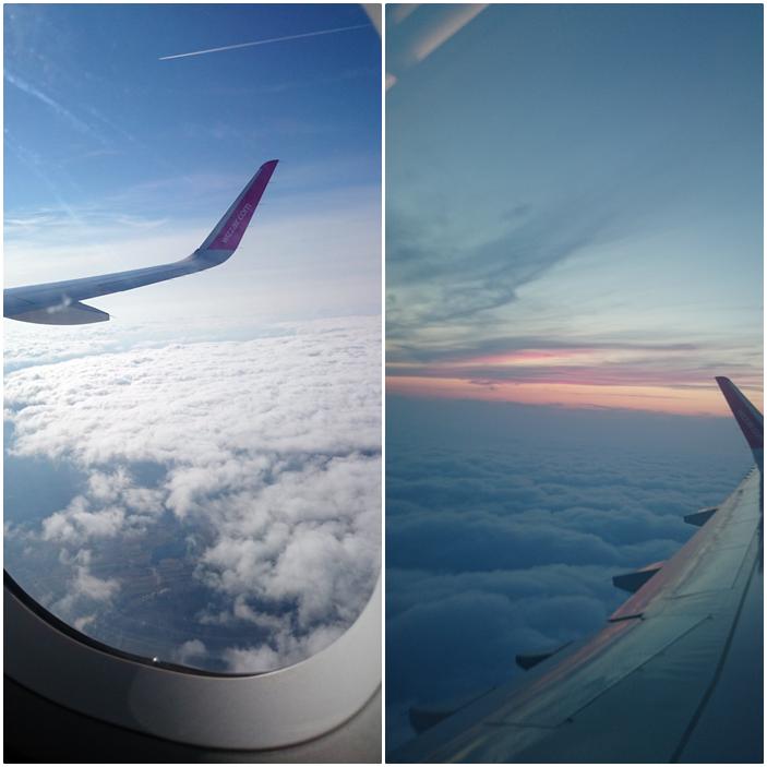 wizzair,lot samolotem,widok z okna samolotu,chmury,jak wygląda lot,chmury piękne
