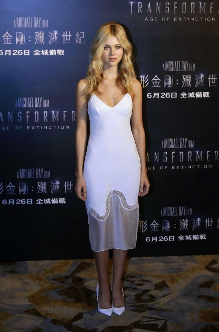 Nicola Peltz wears Stella McCartney Dress – 'Transformers: Age of Extinction' Hong Kong Photocall