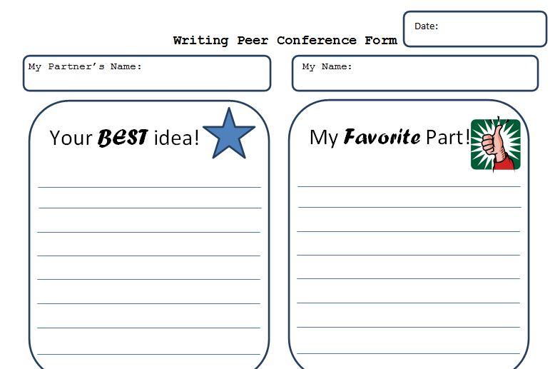 ScrappyGuy Designs Wednesday Writing Peer Editing form – Peer Editing Worksheet