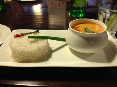 Thai red curry at Incognito Pune