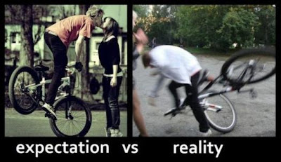 The world Expectation vs Reality meets, See the below Image