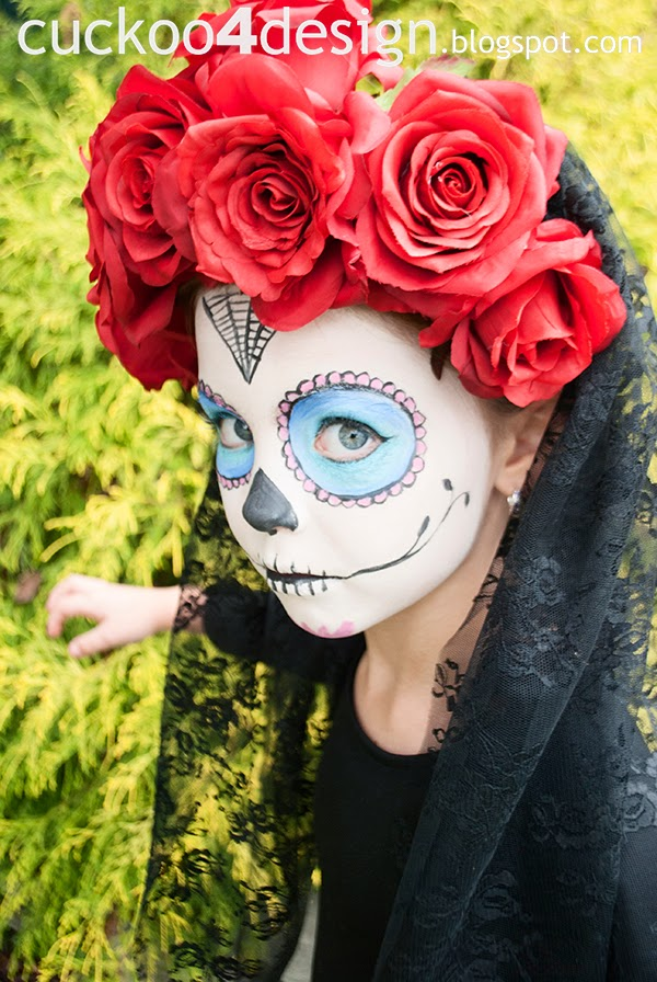 Halloween sugar skull costume