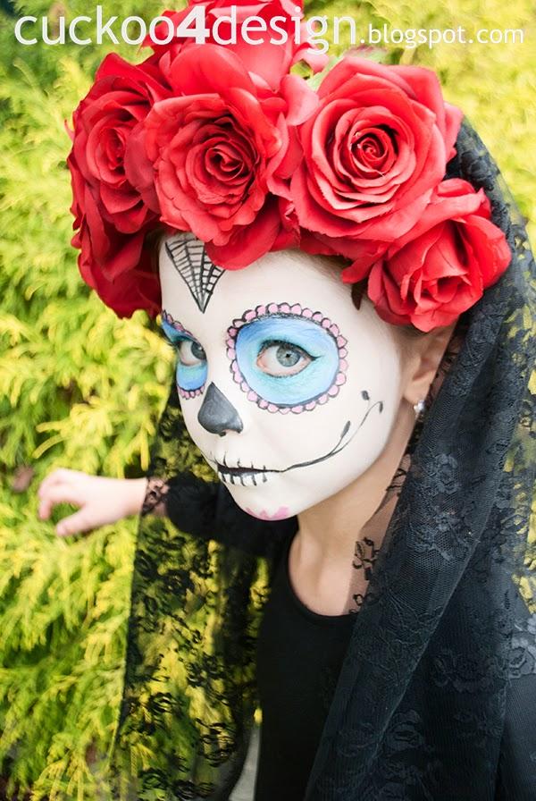 Halloween sugar skull costume